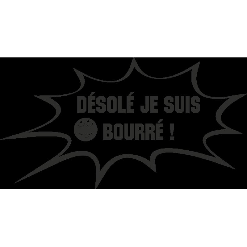 Sticker Humour Bourré