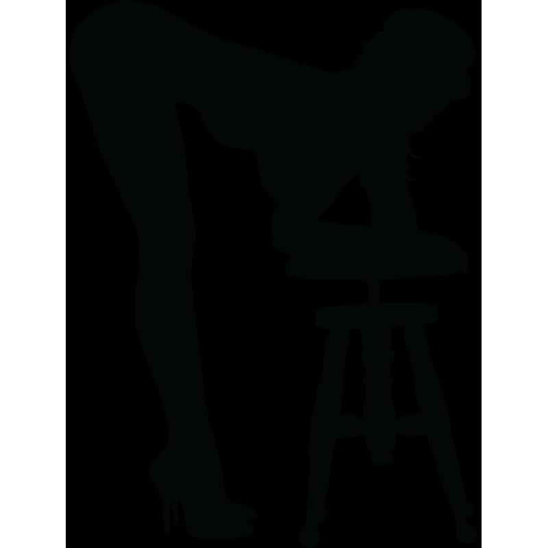 Sticker Silhouette Femme Sexy