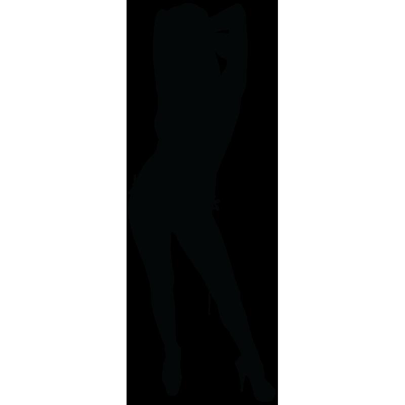 Sticker Silhouette Femme Sexy 21