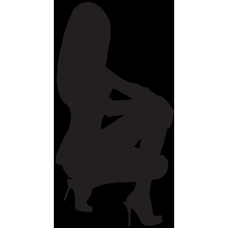 Sticker Silhouette Femme Sexy 22