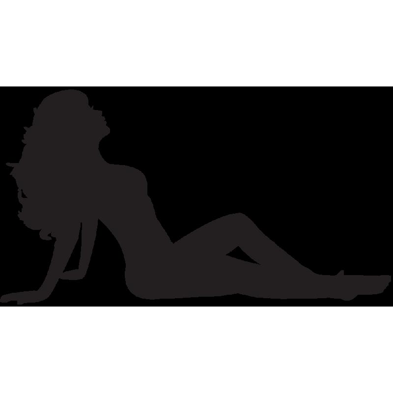 Sticker Silhouette Femme Sexy 25