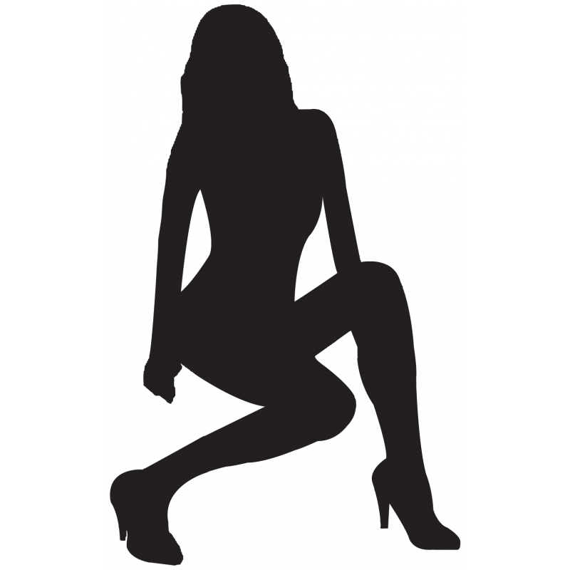 Sticker Silhouette Femme Sexy 26