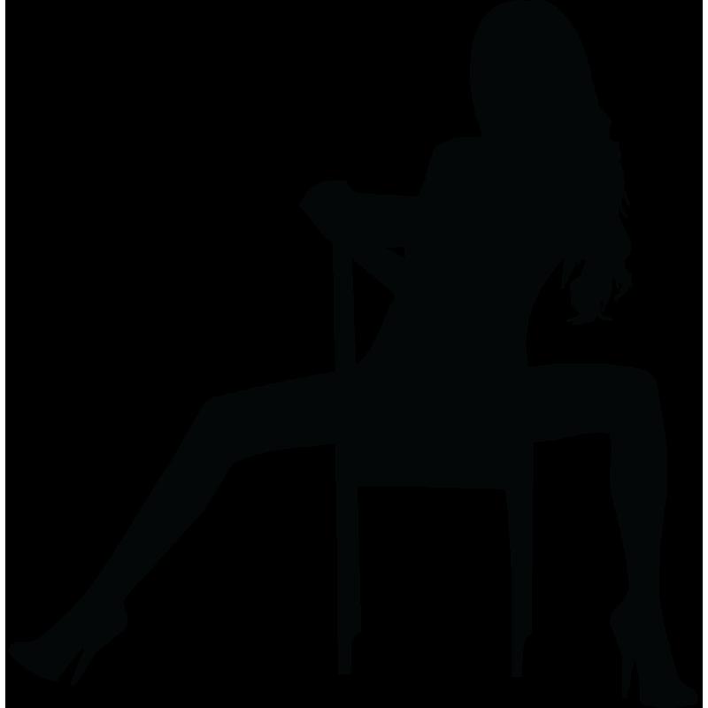 Sticker Silhouette Femme Sexy 29