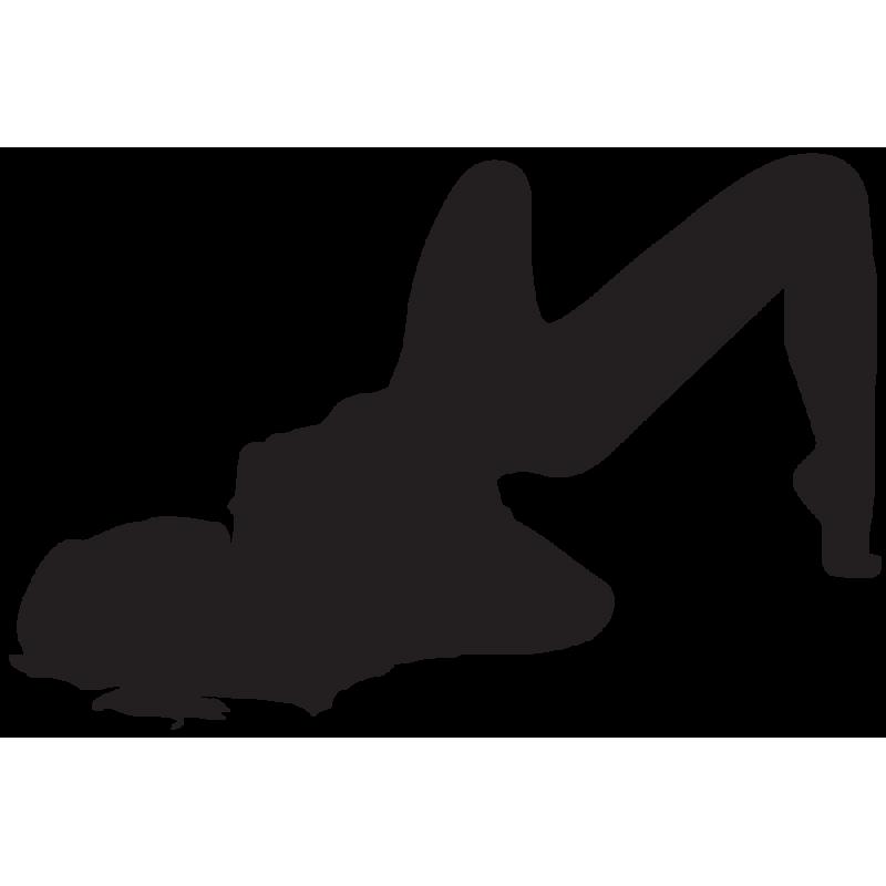 Sticker Silhouette Femme Sexy 34