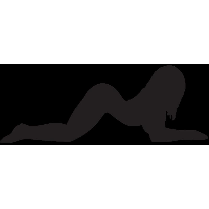 Sticker Silhouette Femme Sexy 36