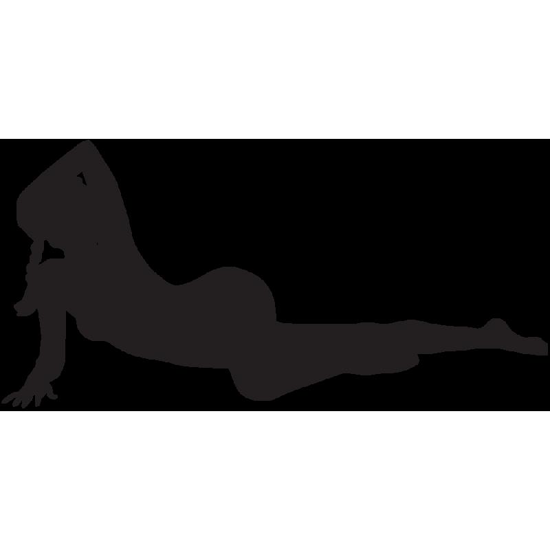 Sticker Silhouette Femme Sexy 37
