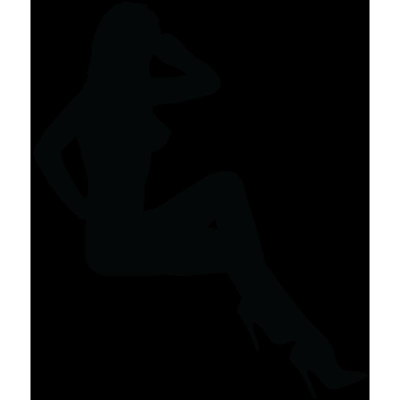 Sticker Silhouette Femme Sexy 38