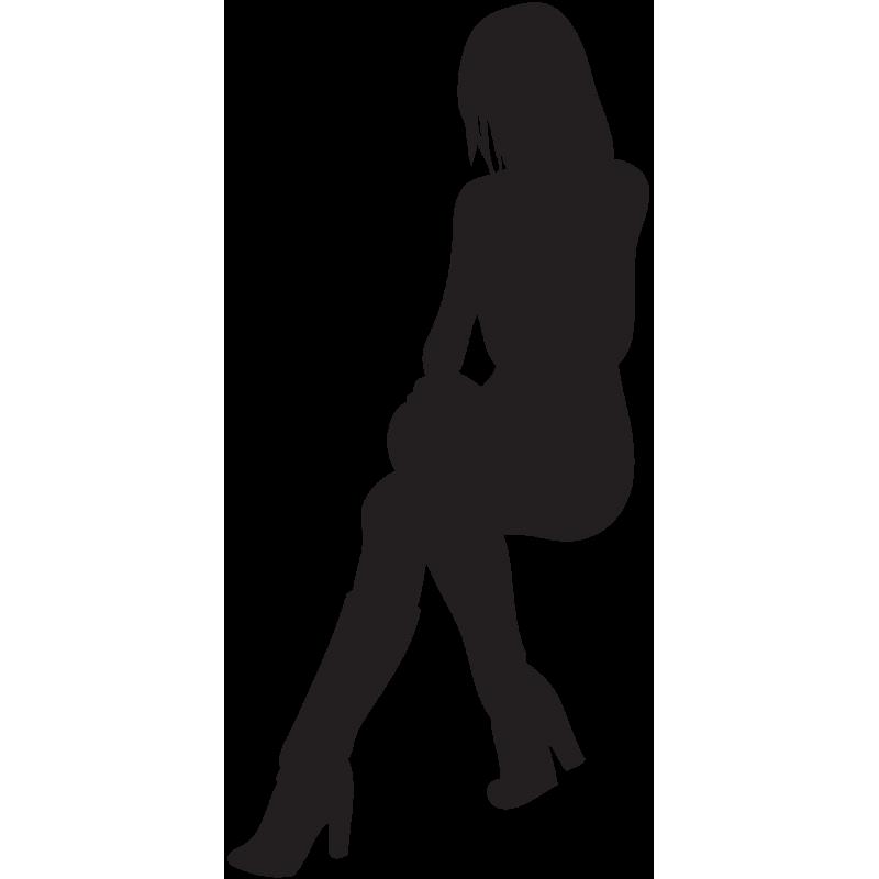 Sticker Silhouette Femme Sexy 39