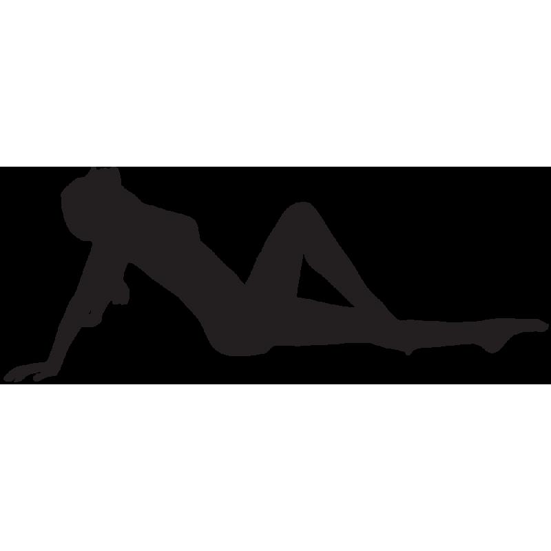 Sticker Silhouette Femme Sexy 43
