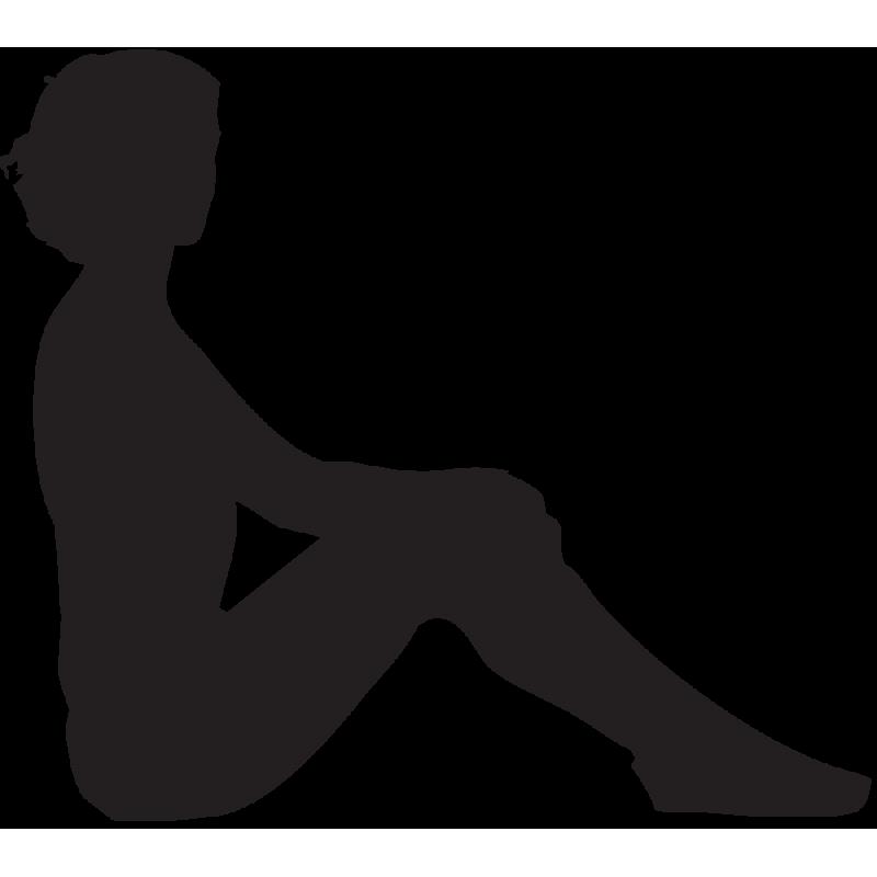 Sticker Silhouette Femme Sexy 47