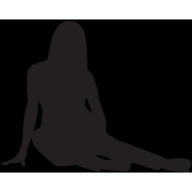 Sticker Silhouette Femme Sexy 48