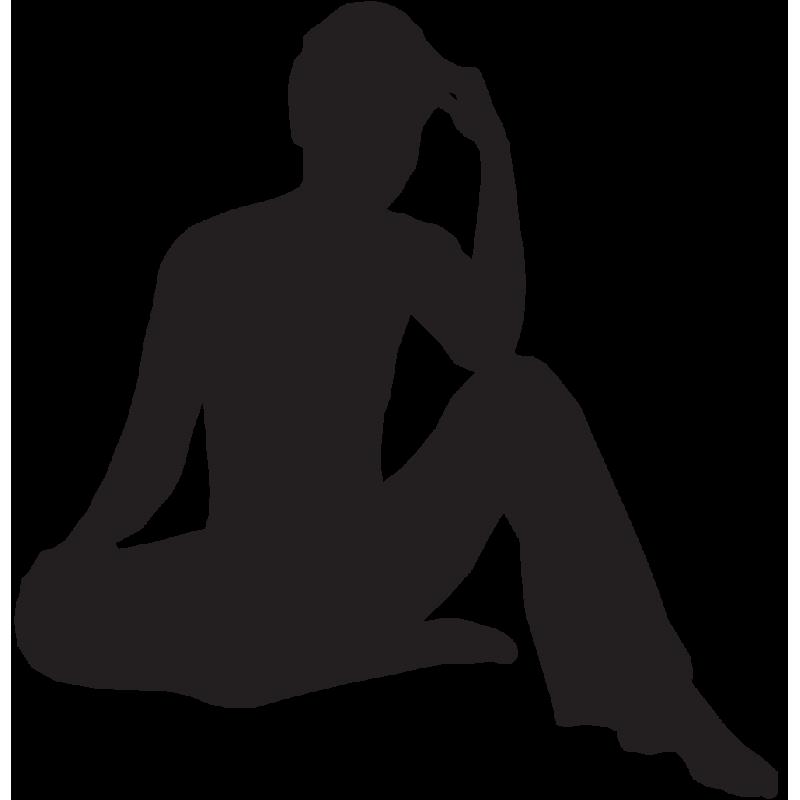 Sticker Silhouette Femme Sexy 49