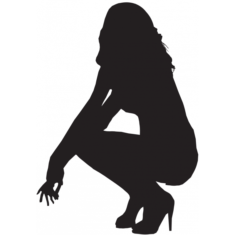 Sticker Silhouette Femme Sexy 50