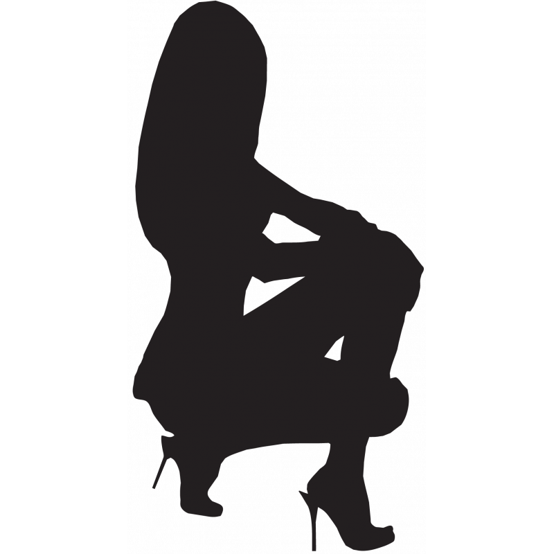 Sticker Silhouette Femme Sexy 52