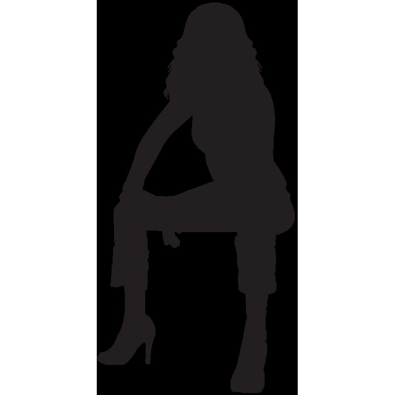 Sticker Silhouette Femme Sexy 54