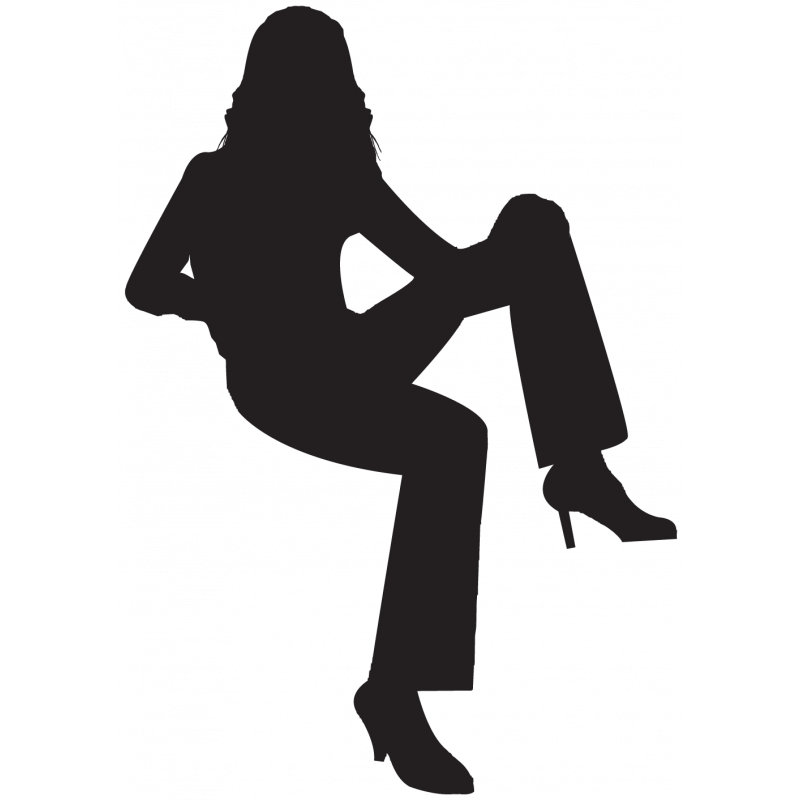Sticker Silhouette Femme Sexy 55