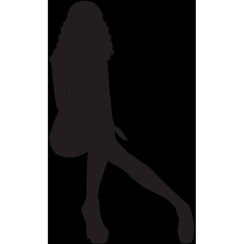 Sticker Silhouette Femme Sexy 56