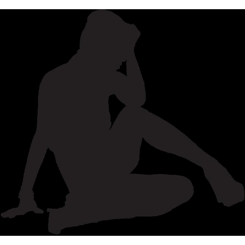Sticker Silhouette Femme Sexy 59