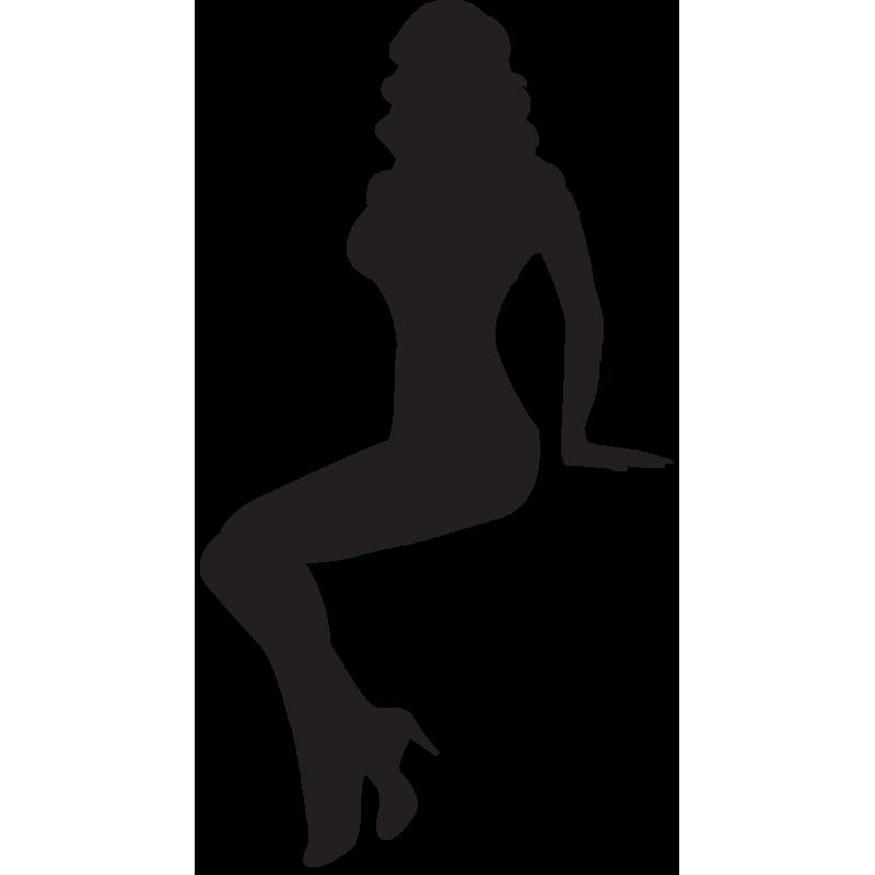 Sticker Silhouette Femme Sexy 60