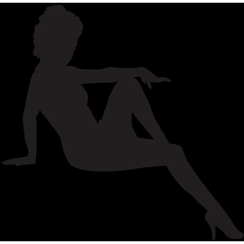 Sticker Silhouette Femme Sexy 64