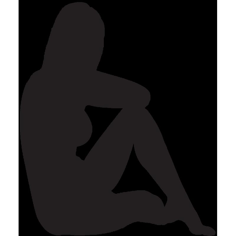 Sticker Silhouette Femme Sexy 66