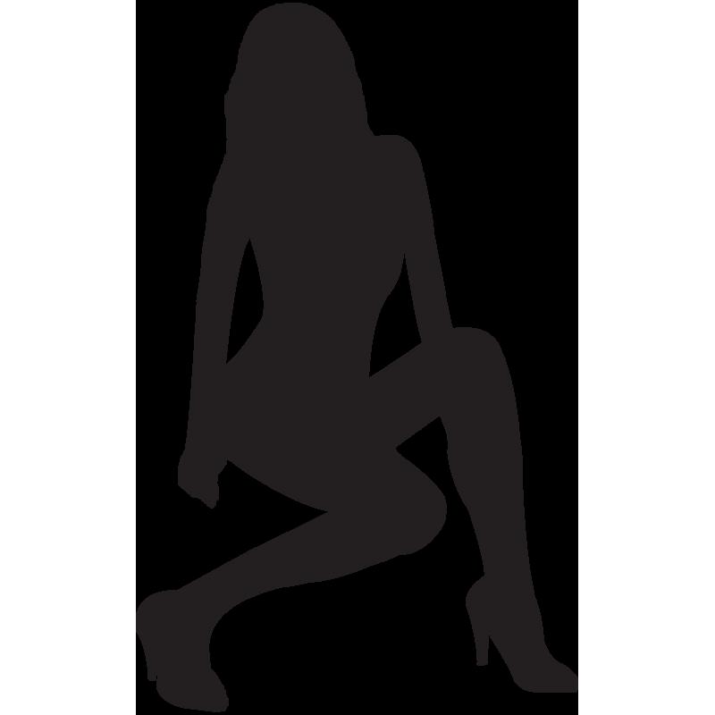 Sticker Silhouette Femme Sexy 67
