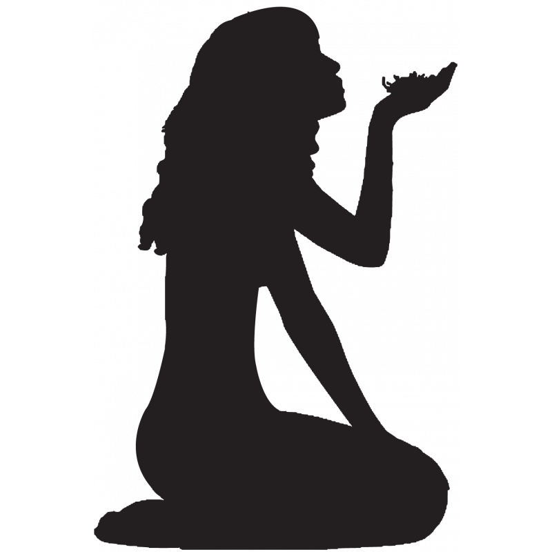 Sticker Silhouette Femme Sexy 68