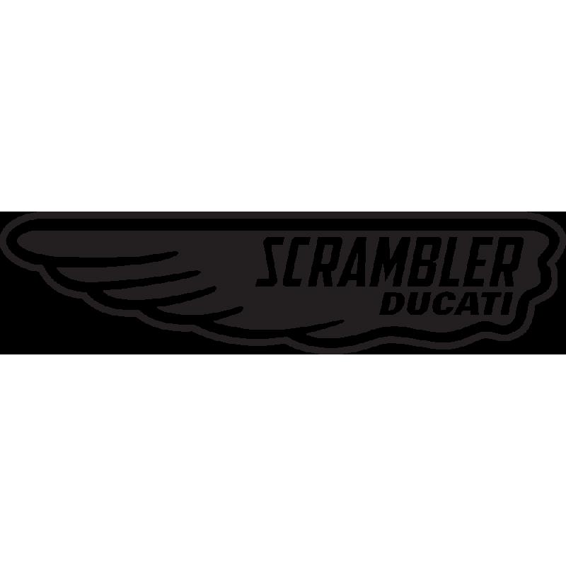 Sticker Scrambler Ducati Aile Gauche