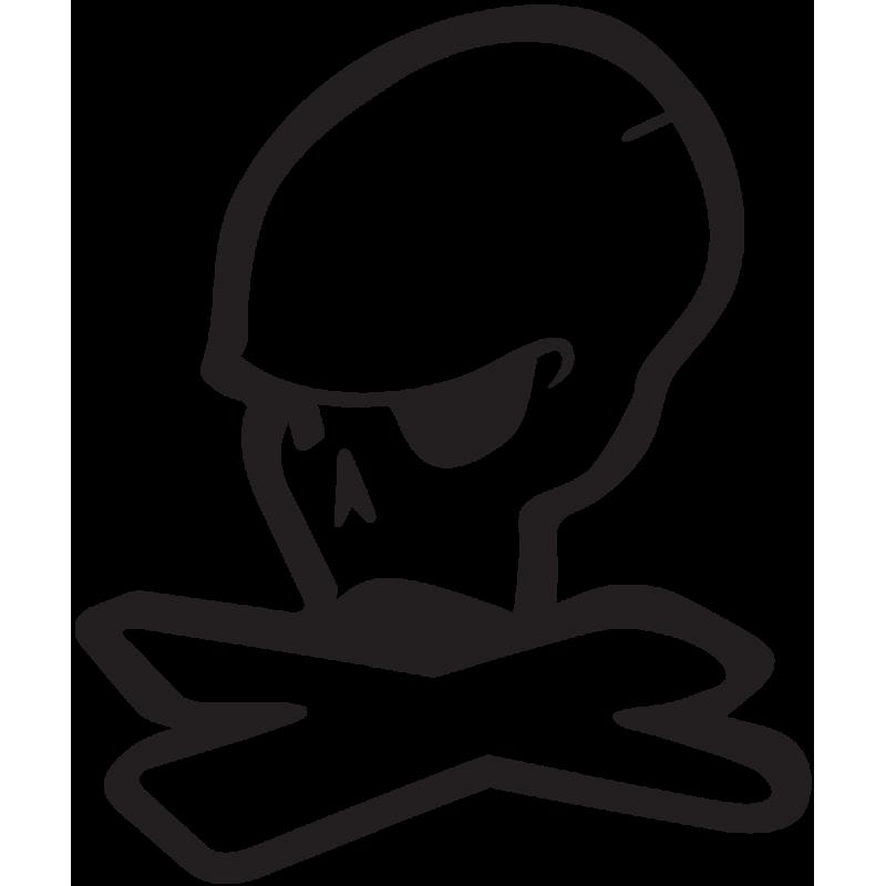 Sticker Jdm Et Skull