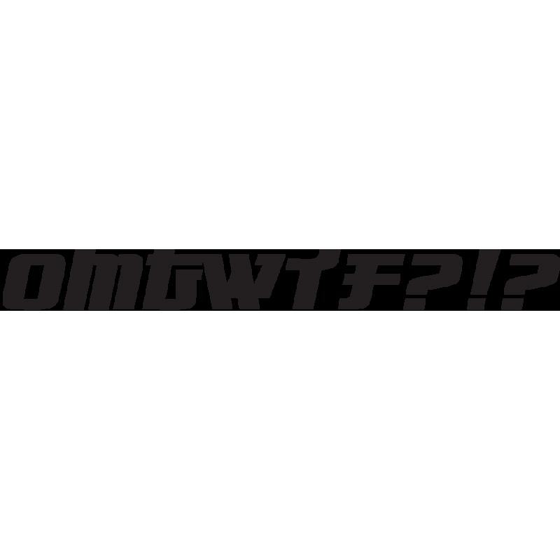 Sticker Jdm Omg Wtf