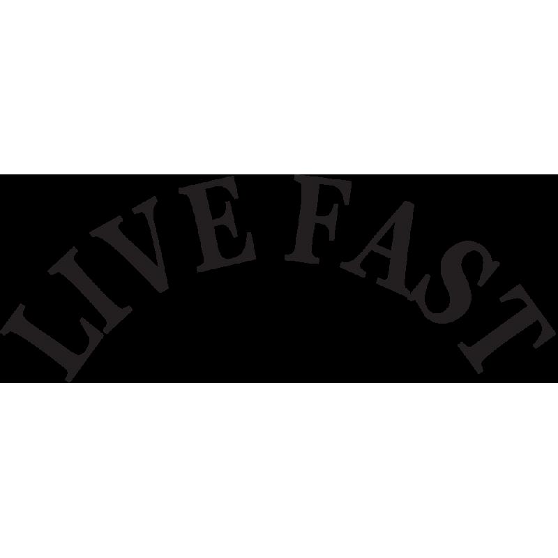 Sticker Jdm Live Fast