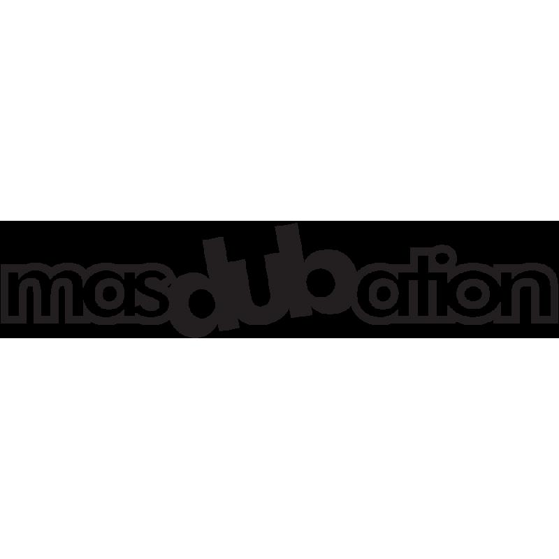 Sticker Jdm Masdubation