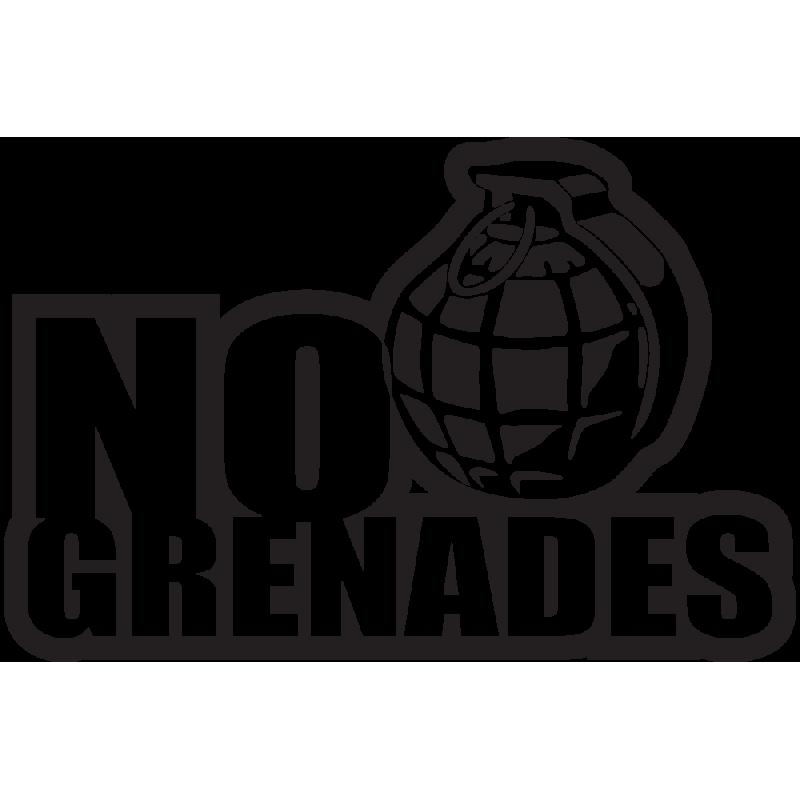 Sticker Jdm No Grenades