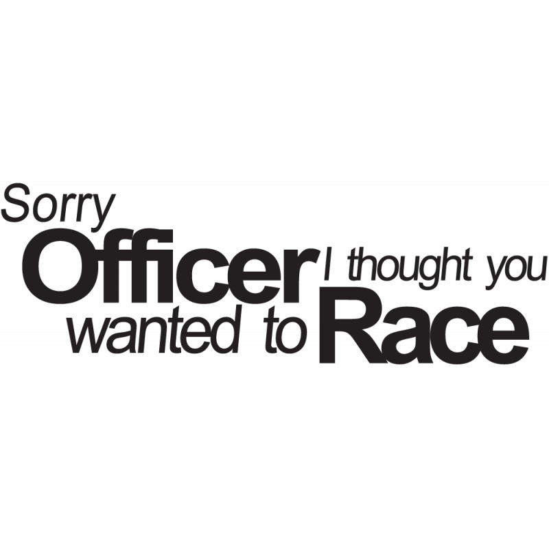 Sticker Jdm Officer Race