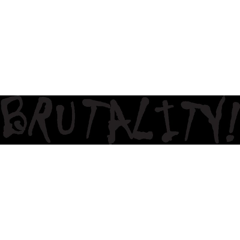 Sticker Jdm Brutality!
