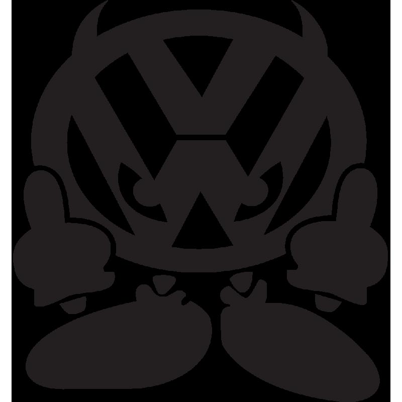 Sticker Jdm Volkswagen Devil