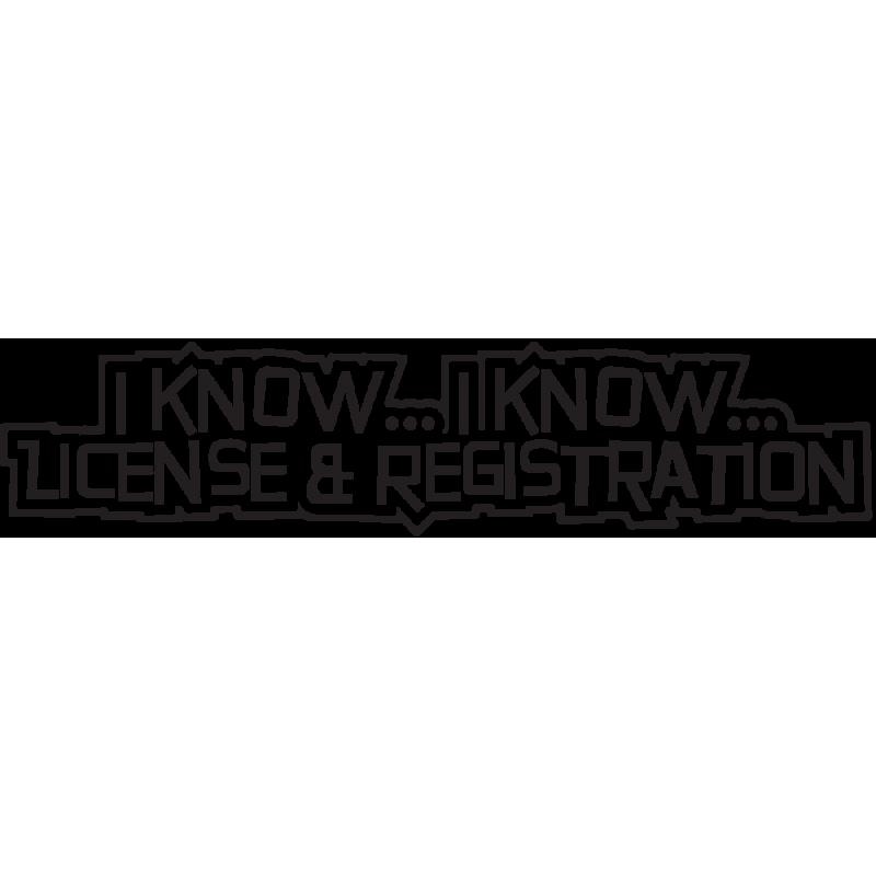 Sticker Jdm License And Registration