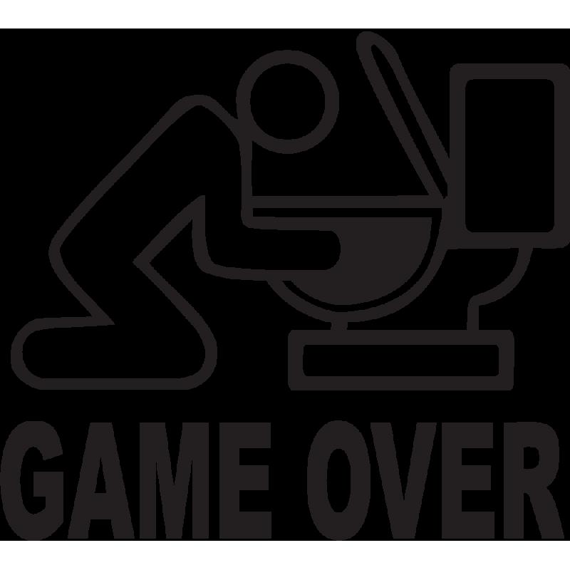 Sticker Jdm Game Over