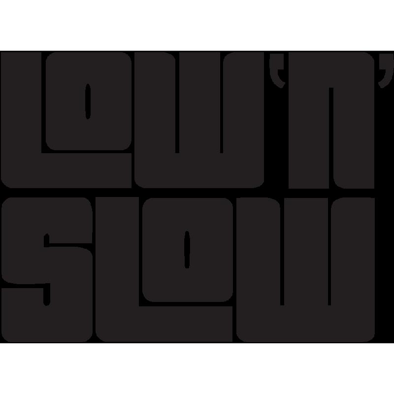 Sticker Jdm Low'n'slow