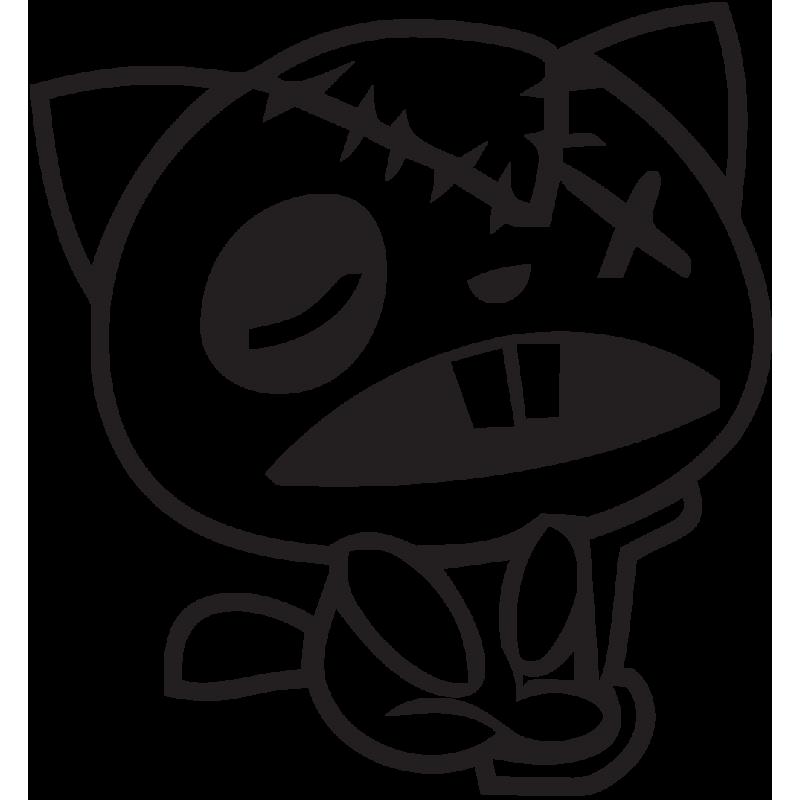 Sticker Jdm Chat Amoché