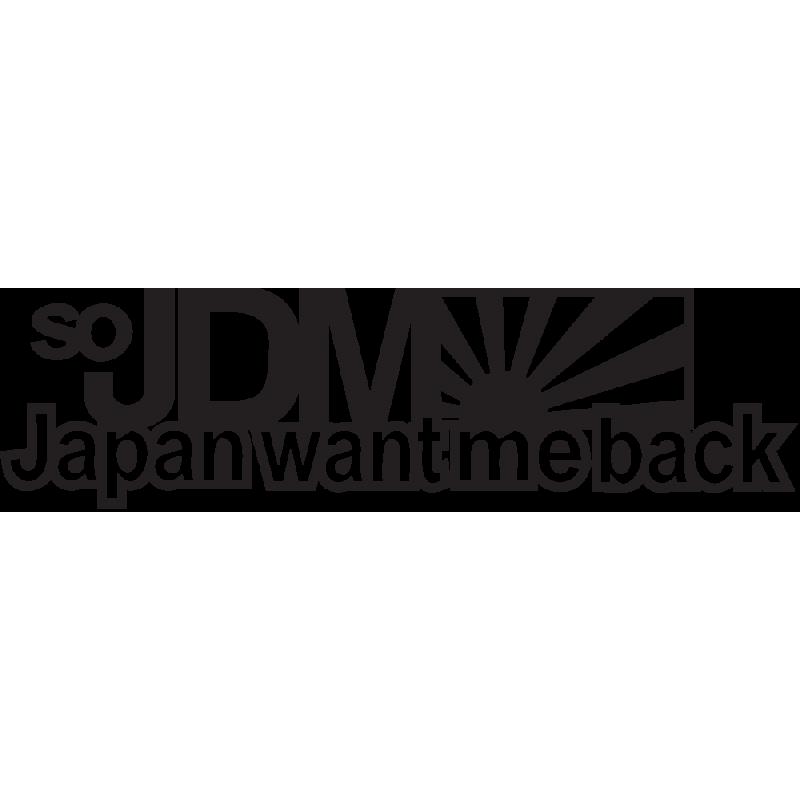 Sticker Jdm Japan Want Me Back
