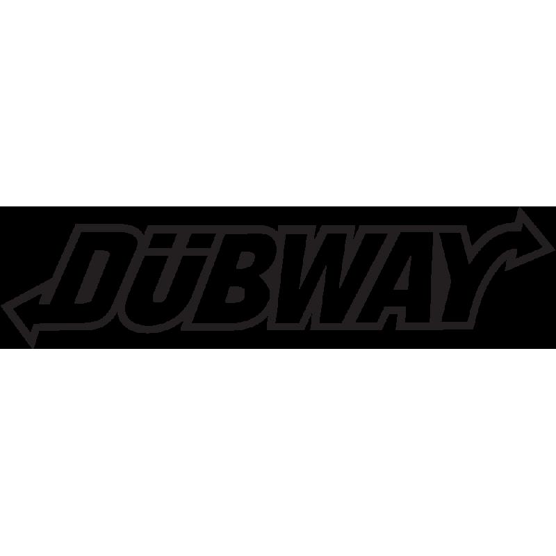 Sticker Jdm Dubway