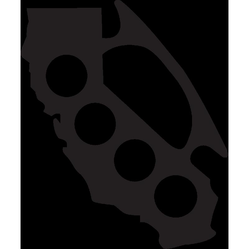 Sticker Jdm Californie Poing Américain