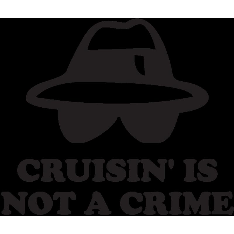 Sticker Jdm Cruisin'is Not A Crime