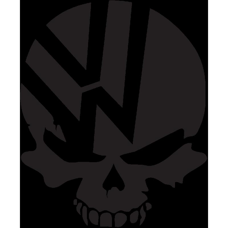 Sticker Jdm Volkswagen Skull