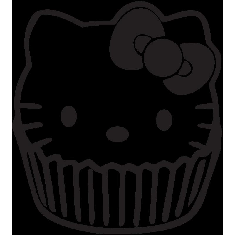 Sticker Jdm Hello Kitty Cup Cake