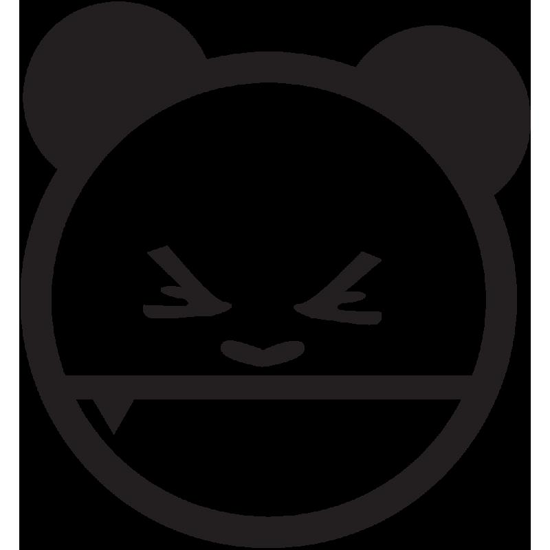 Sticker Jdm Panda En Colère