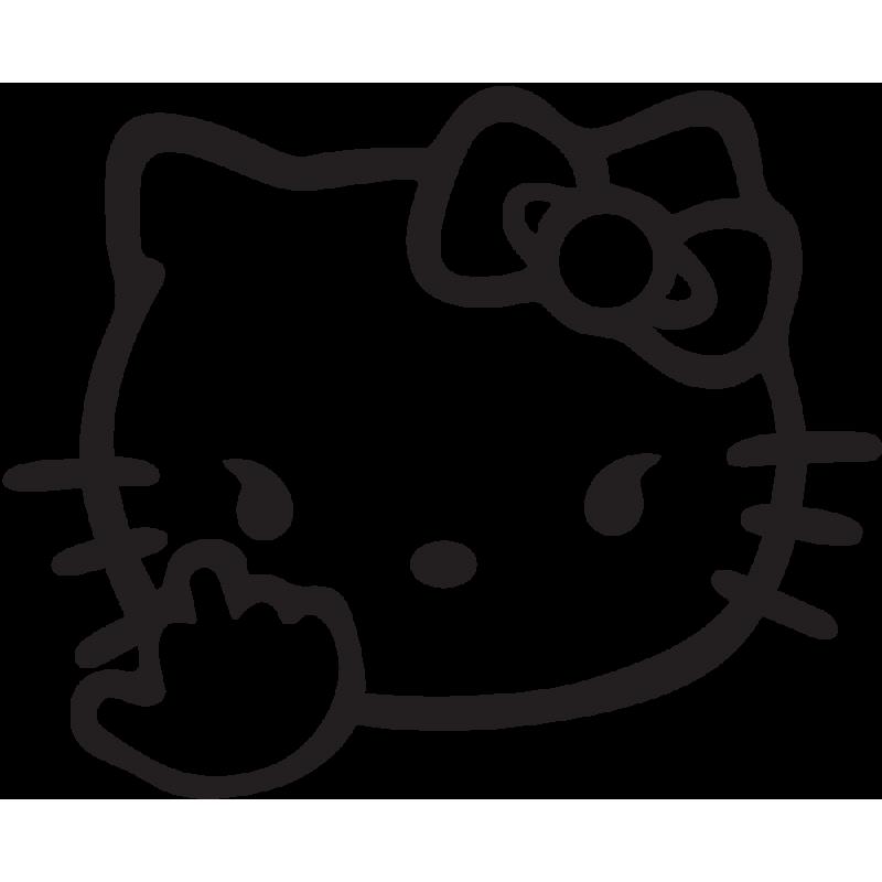 Sticker Jdm Hello Kitty Finger