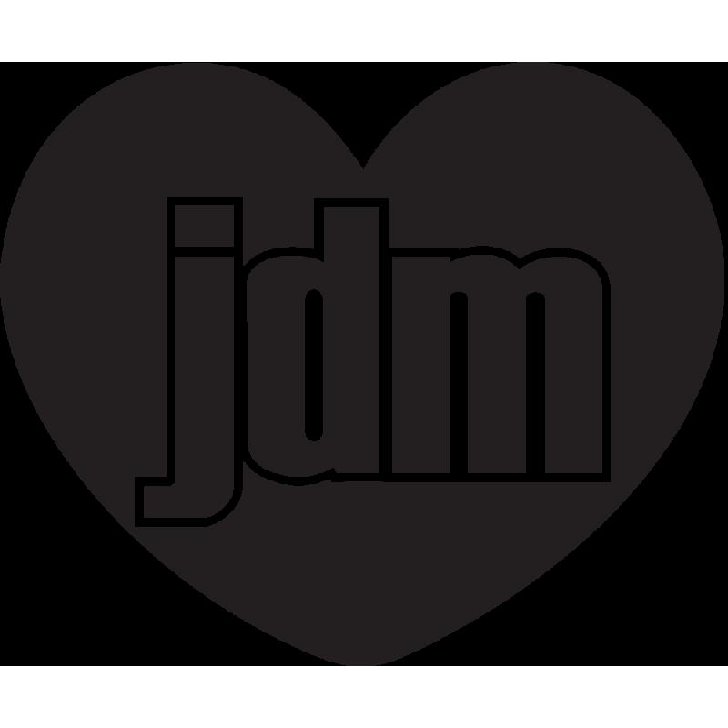 Sticker Jdm Coeur