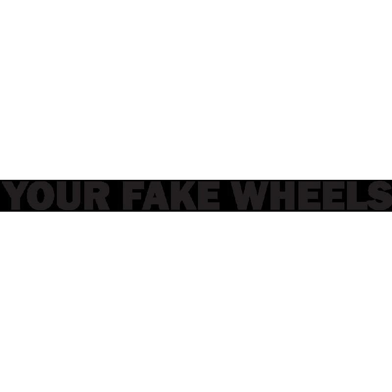 Sticker Jdm Your Fake Wheels